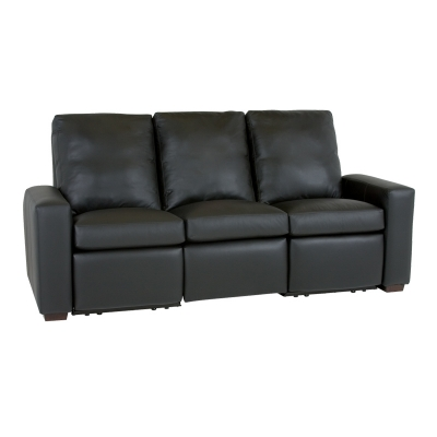 Classic Leather Motorized Reclining Sofa