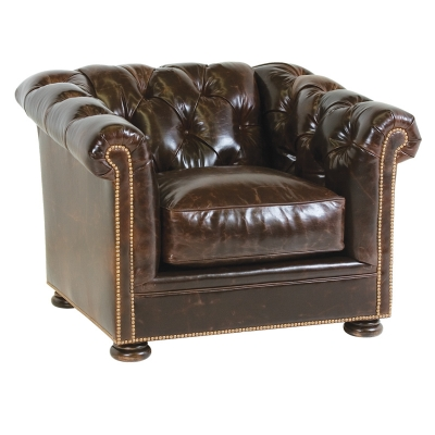 Classic Leather Tufted Chair