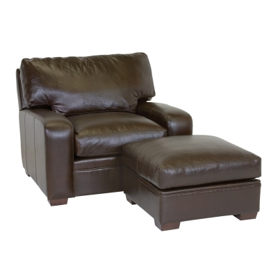 Classic Leather Ottoman