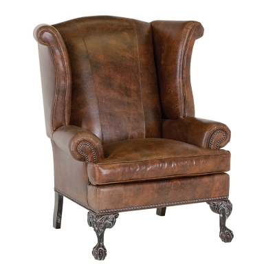 Classic Leather Wing Chair