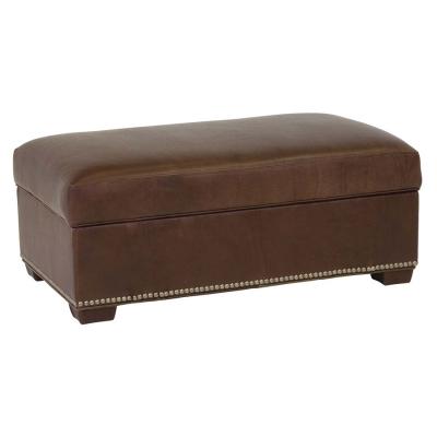 Classic Leather Storage Ottoman