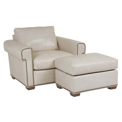 Classic Leather Chair Ottoman