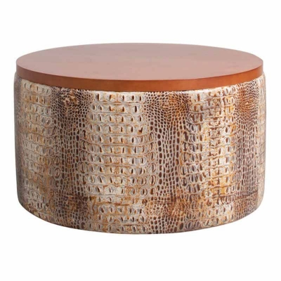 Classic Leather Leather Ottoman