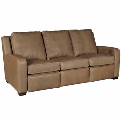 Classic Leather Motorized Incliner Sofa