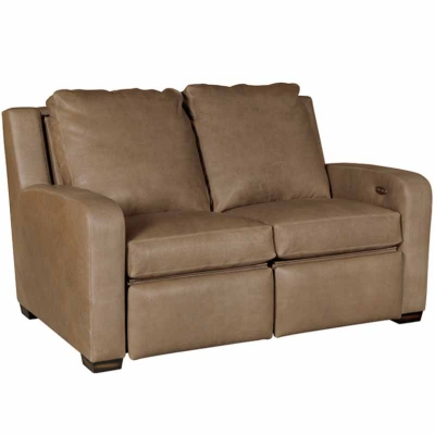 Classic Leather Motorized Incliner Loveseat