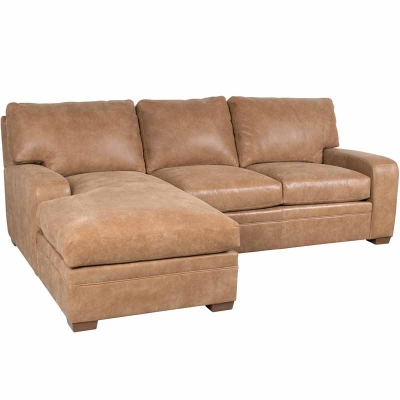 Classic Leather Sectional RAF Loveseat