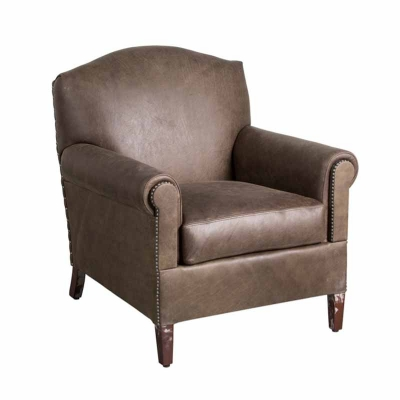 Classic Leather Leather Pub Chair