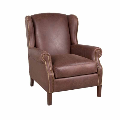 Classic Leather Leather Wing Chair