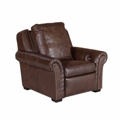 Classic Leather Motorized Incliner Leather Chair