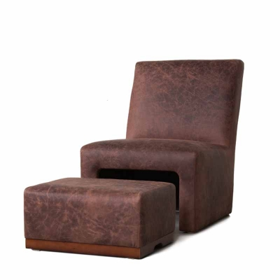 Classic Leather Ottoman