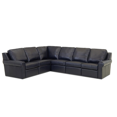 Comfort Design Leather Reclining Sectional