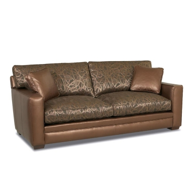 Comfort Design Fabric and Leather Sofa
