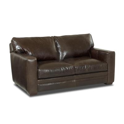 Comfort Design Leather Stationary Loveseat
