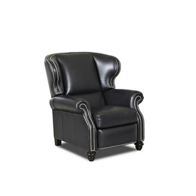 Comfort Design Leather Reclining Wing Chair