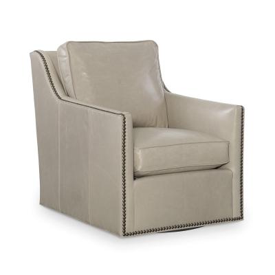 CR Laine Leather Swivel Chair