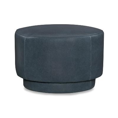 CR Laine Leather Swivel Ottoman
