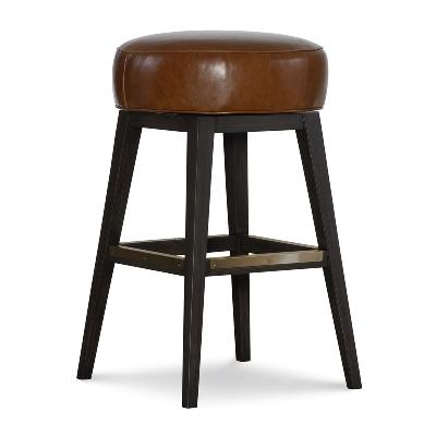 CR Laine Leather Swivel Bar Stool
