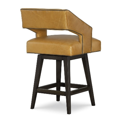 CR Laine Leather Swivel Counter Stool
