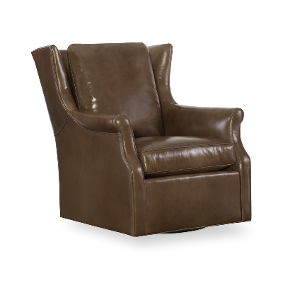 CR Laine Leather Swivel Chair