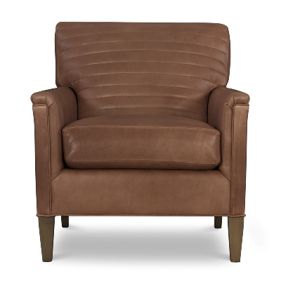 CR Laine Leather Channel Back Chair