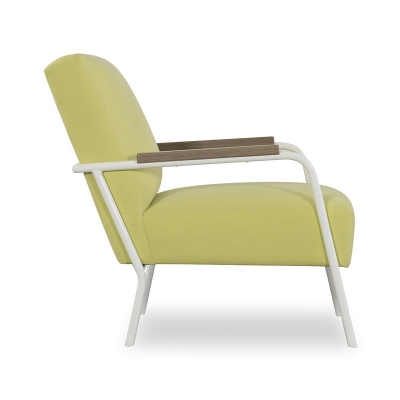 CR Laine Metal Chair in White