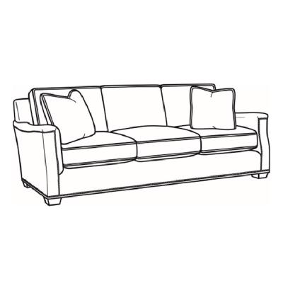 CR Laine Leather Long Sofa