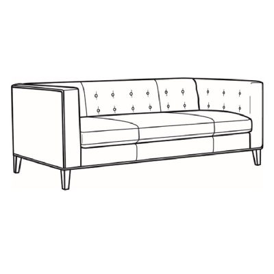 CR Laine Leather Sofa