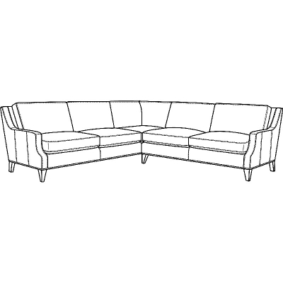CR Laine Leather Sectional