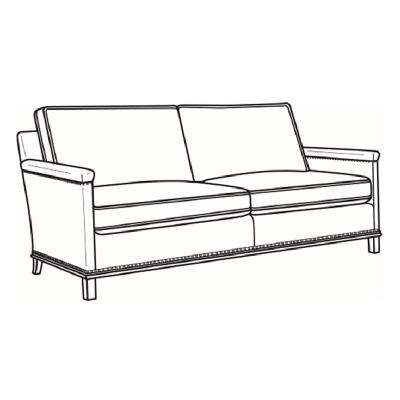 CR Laine Leather Apartment Sofa