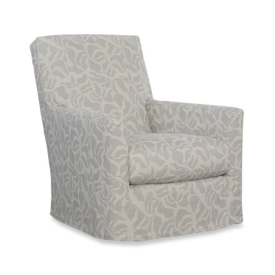 CR Laine Slipcovered Swivel Chair