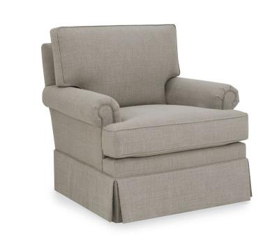 CR Laine Rolled Arm Swivel Chair