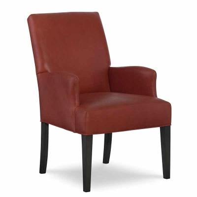 CR Laine Leather Dining Arm Chair