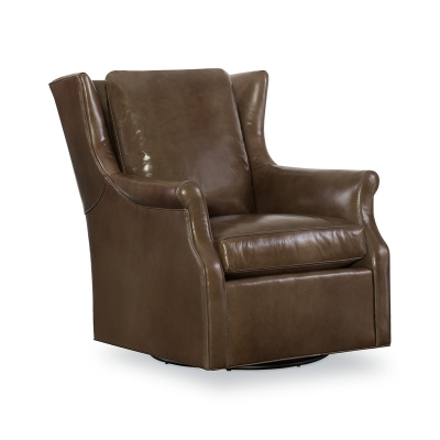 CR Laine Leather Swivel Glider