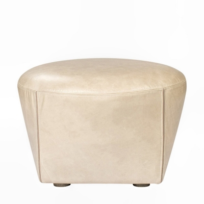 Curations Limited Leather Ottoman