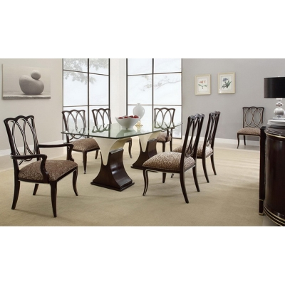 Eastern Legends Glass Top Dining Table