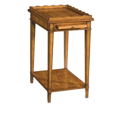 Fauld Side Table With Gallery Top