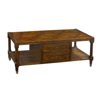 Fauld Cocktail Table With Four Drawers