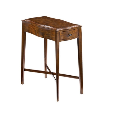 Fauld Chairside Table With Shaped Top