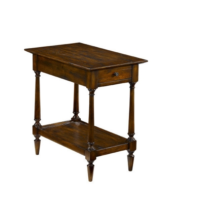 Fauld End Table With One Drawer