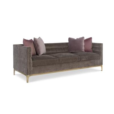 Fine Furniture Design Manhattan Leather Channel Back Sofa
