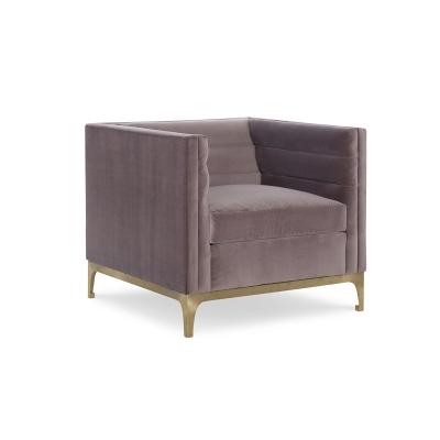 Fine Furniture Design Manhattan Leather Channeled Lounge Chair