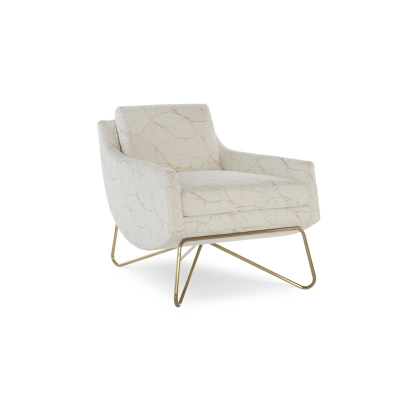 Fine Furniture Design Capri Leather Sling Look Chair