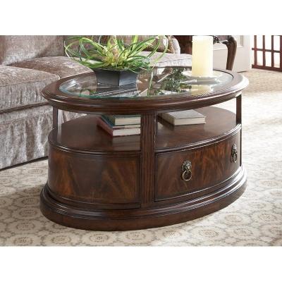 Fine Furniture Design Oval Storage Cocktail Table