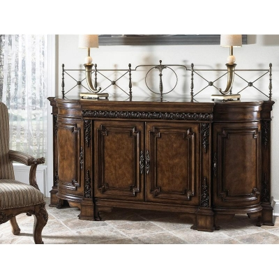 Fine Furniture Design Credenza With Wood Top