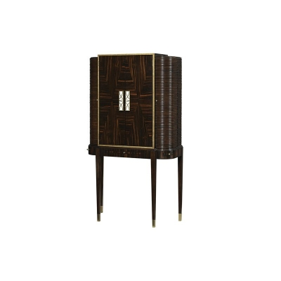 Fine Furniture Design Silver Screen Bar Cabinet