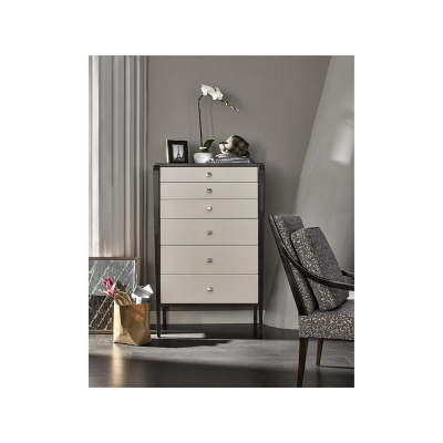 Fine Furniture Design Le Semainier Leather Drawer Chest