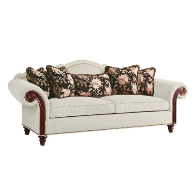 Fine Furniture Design Sofa with Wood Arm Panel
