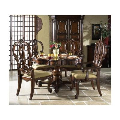 Fine Furniture Design Carved Back Arm Chair