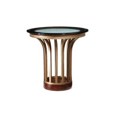 Fine Furniture Design Metal and Stone End Table
