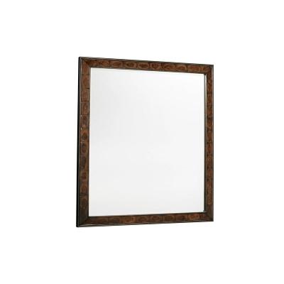 Fine Furniture Design Wood and Metal Landscape Mirror